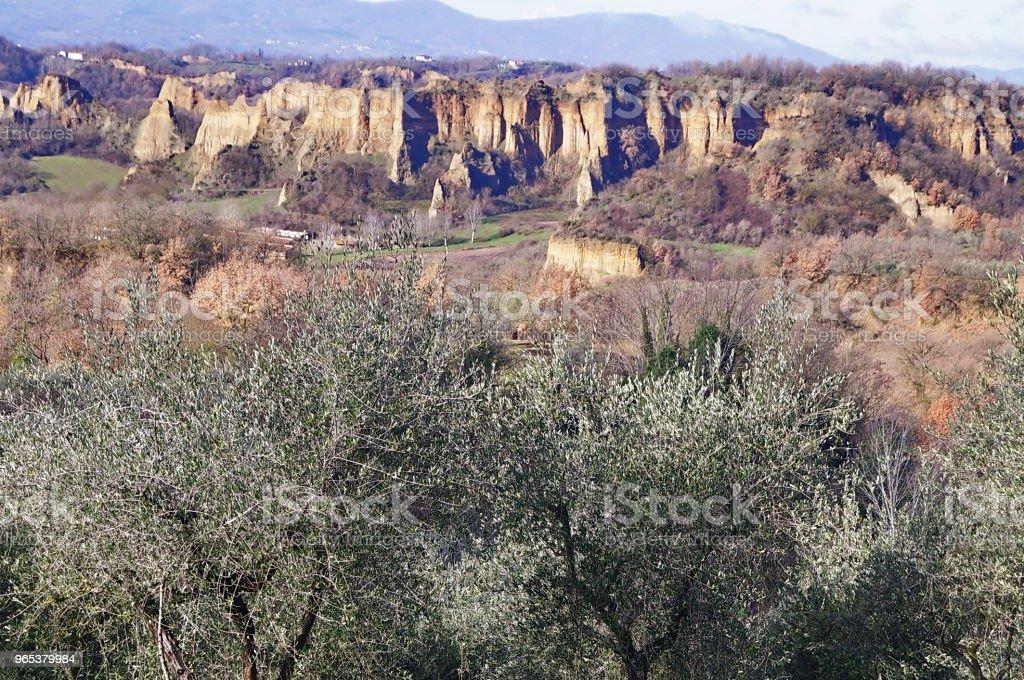 Le Balze of Valdarno, Tuscany royalty-free stock photo