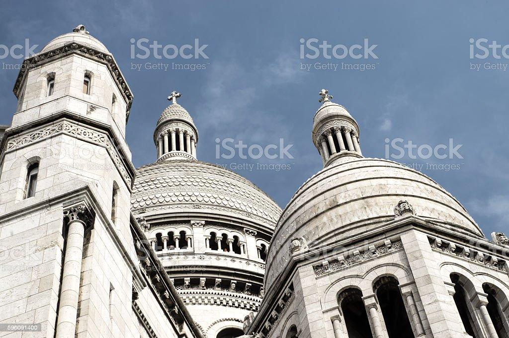 Le Basilique duSacre Coeur de Monmartre, Paris stock photo