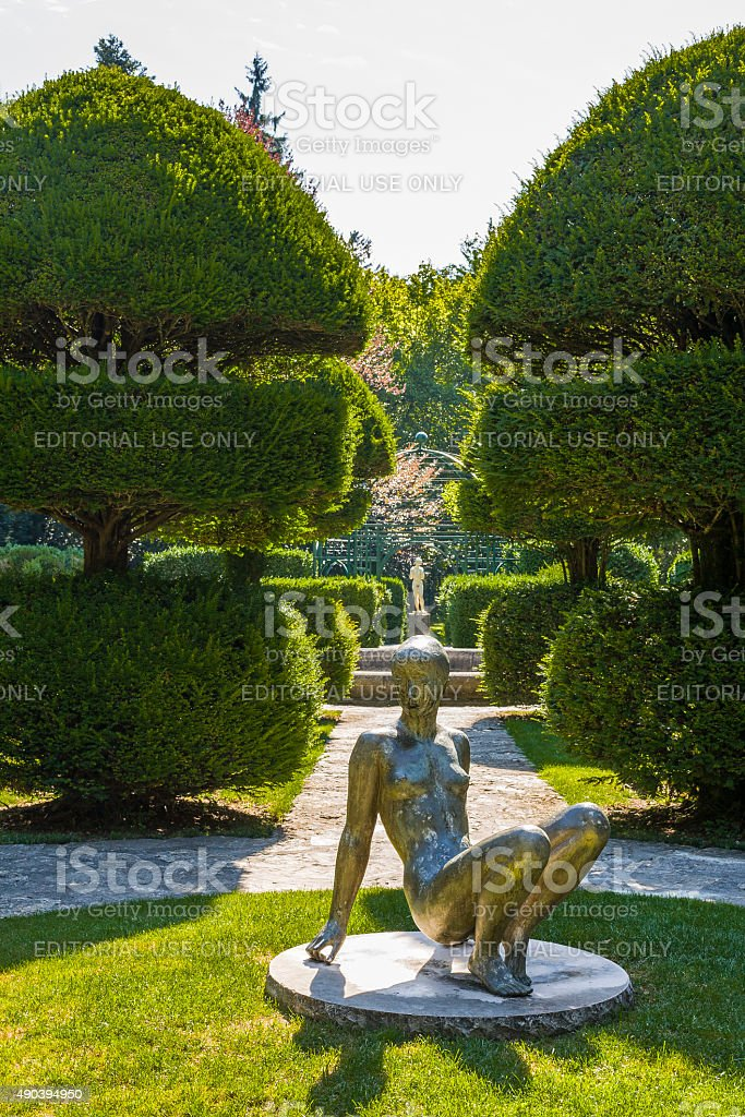 Le Bourget-du-Lac (Savoy, France). In the park of the priory stock photo