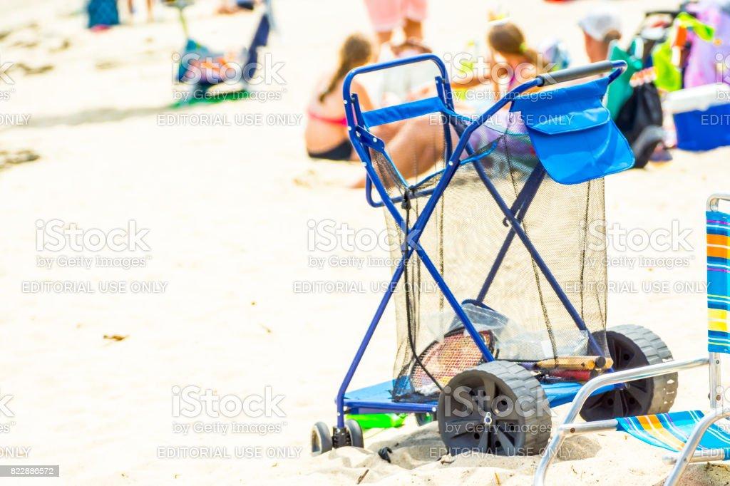 Le chariot de plage stock photo