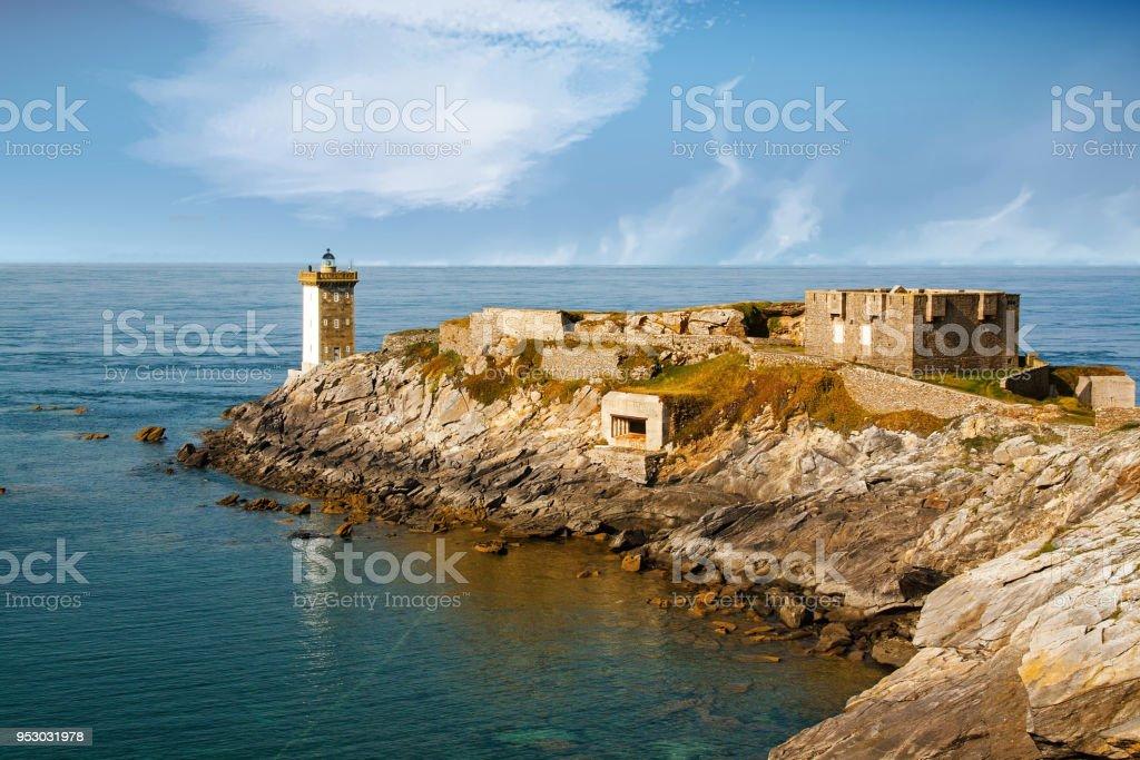 Le Conquet. Presqu'île et phare de Kermorvan. Finistère, Bretagne - Photo