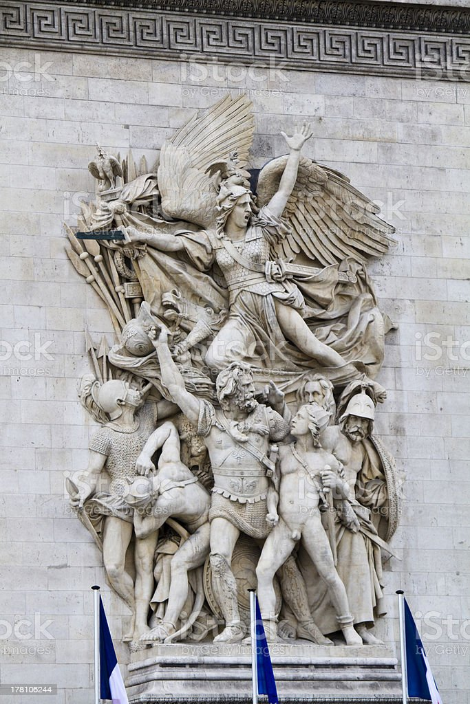 Le Depart de 1792 (La Marseillaise) stock photo