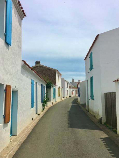 Île d'Yeu Island France. stock photo