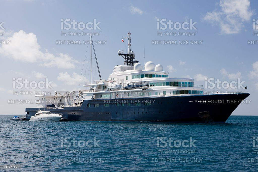Le Grand Bleu Yacht In The French West Indies Stock Photo Download