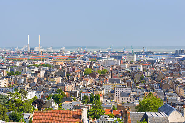 Le Havre in a summer day View of Le Havre in a summer day le havre stock pictures, royalty-free photos & images