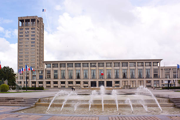 Le Havre Town Council Le Havre Town Council in Normandy le havre stock pictures, royalty-free photos & images