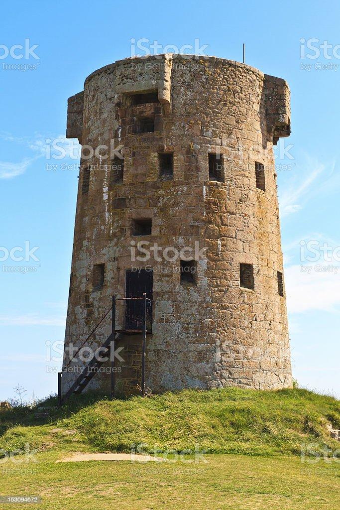 Le Hocq, Jersey Coastal Tower stock photo