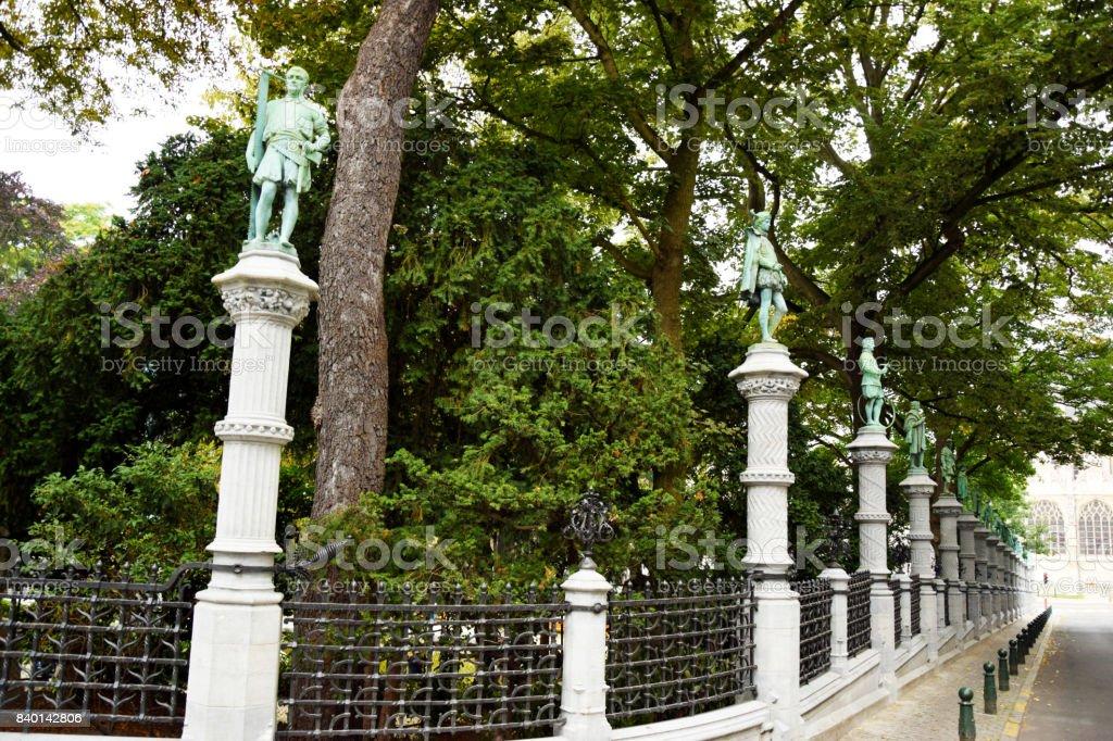 le jardin des statues stock photo
