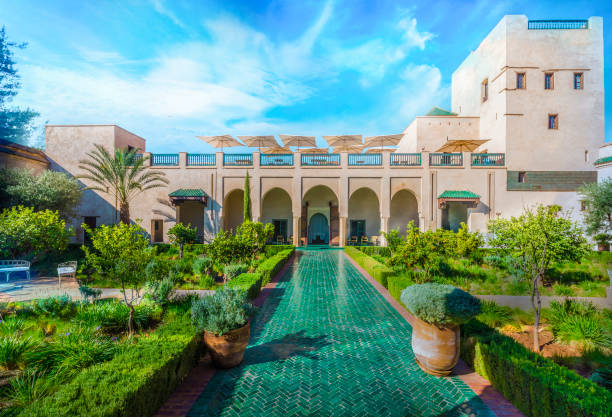 le jardin secret, marrakesch - der geheime garten stock-fotos und bilder