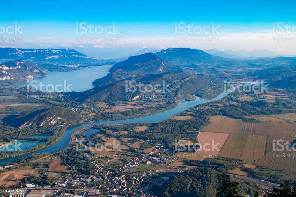 Le Lac du Bourget et le Rhône depuis le Grand Colombier - Photo