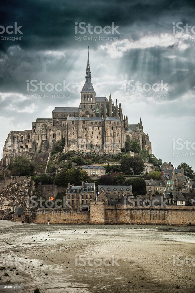 Le Mont Saint Michel in Normandy France stock photo