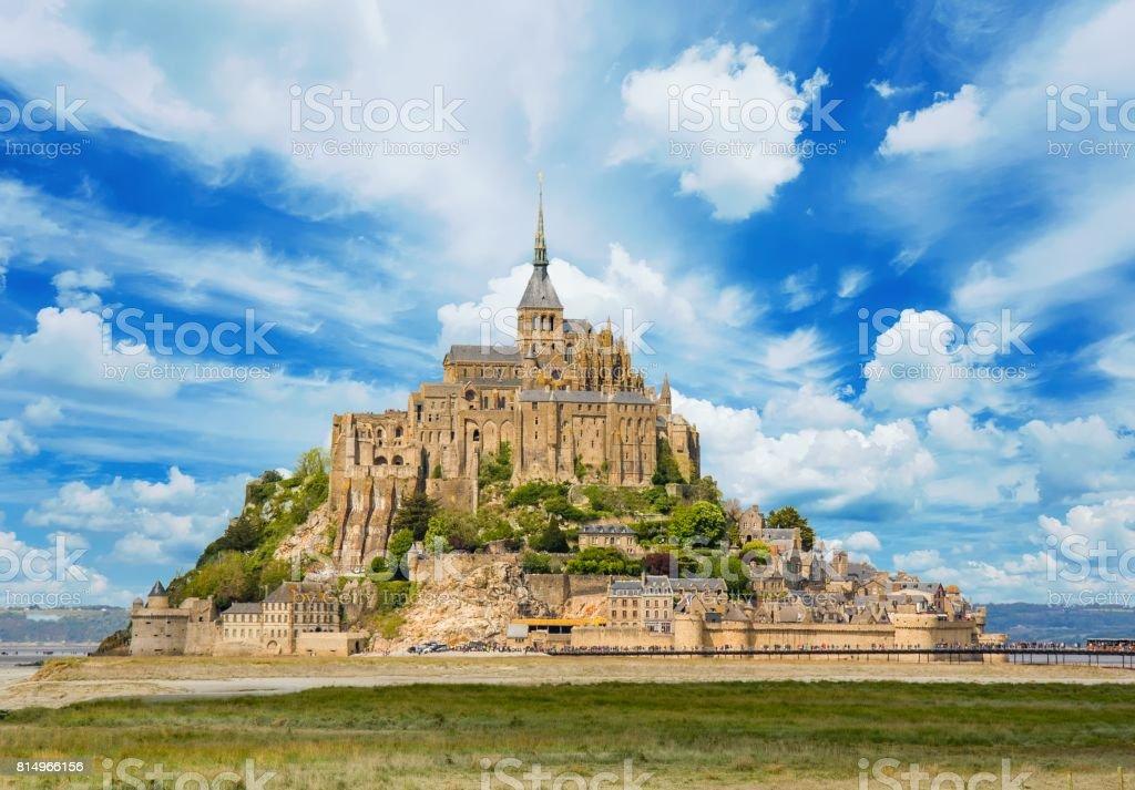 Le Mont saint Michel, Normandie, Manche, Cotentin stock photo