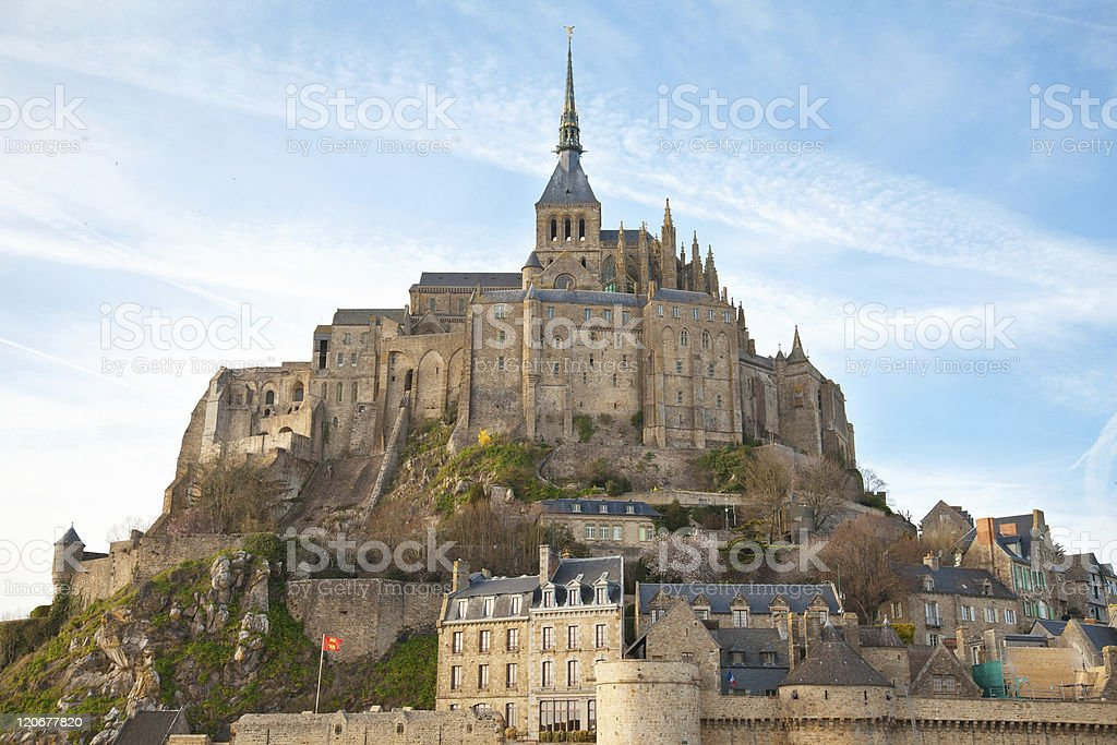 Le Mont Saint Michel royalty-free stock photo