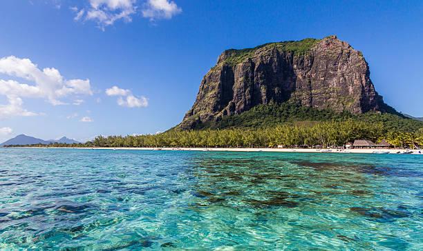 Le Morne Brabant Mauritius mit Panoramablick aufs Meer – Foto