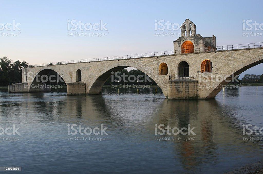 Le Pont D' Avignon royalty-free stock photo