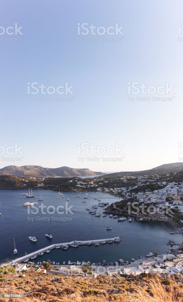 Le port de Panteli en plongée royalty-free stock photo