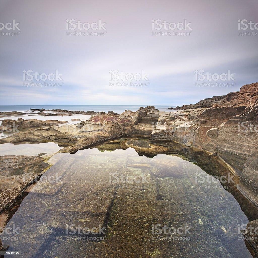 Paesaggi D Acqua Piscine le vaschette piscina di acqua e rocce paesaggio vicino a