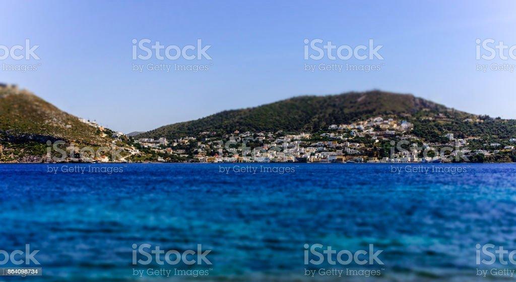 Le village d'Aghia Marina royalty-free stock photo