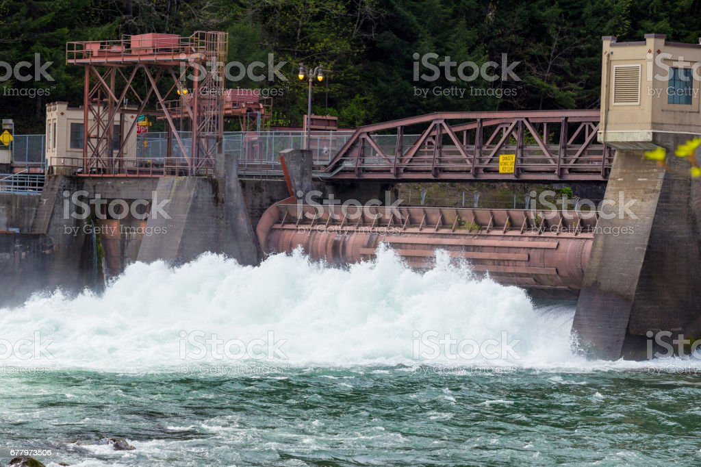Leaburg Dam Hydroelectric Power royalty-free stock photo