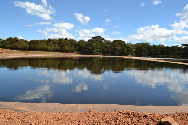 Leachate lakes from Landfill Leachate lakes from Landfill pond stock pictures, royalty-free photos & images
