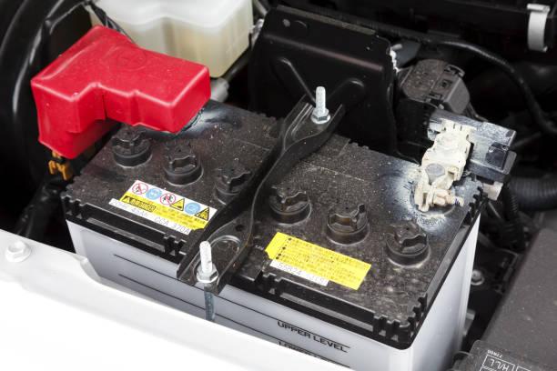 Lead acid car battery stock photo