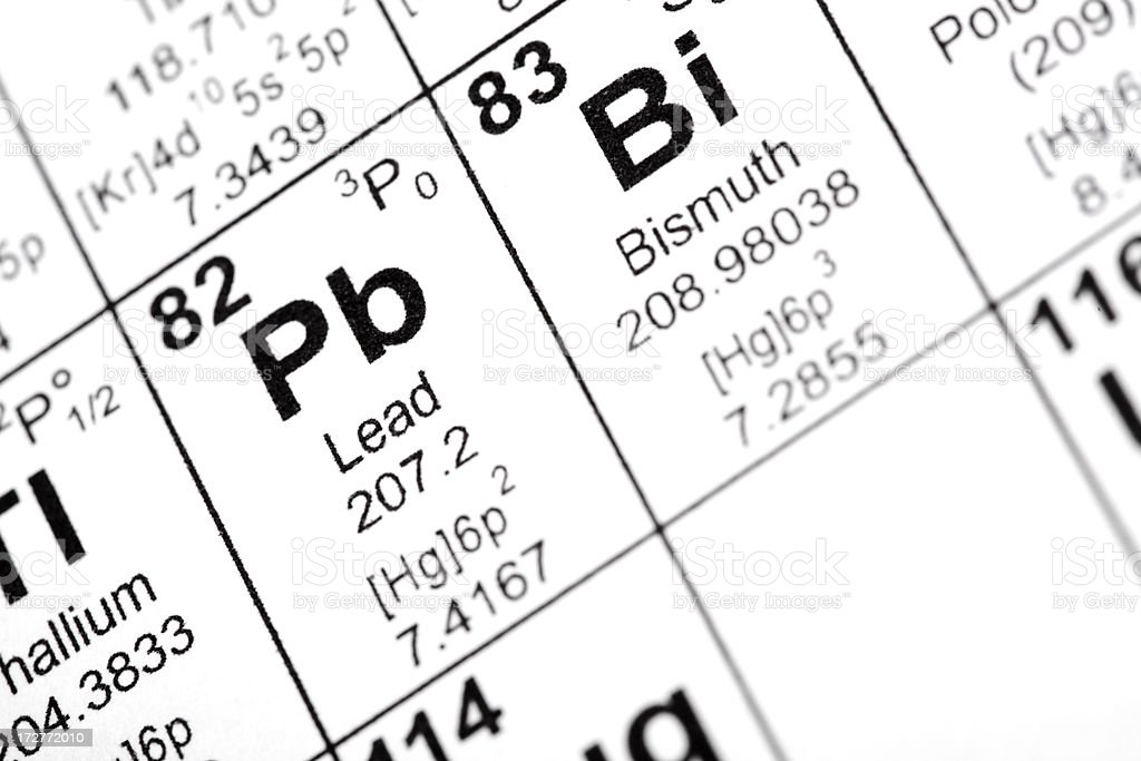 Lead and Bismuth Elements royalty-free stock photo