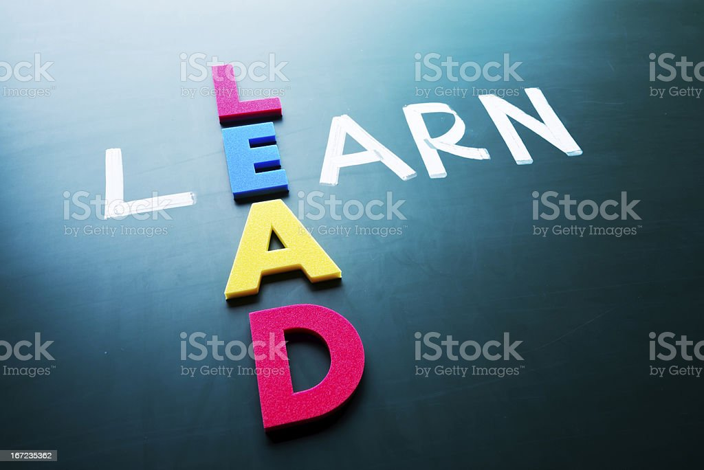 Lead and learn royalty-free stock photo