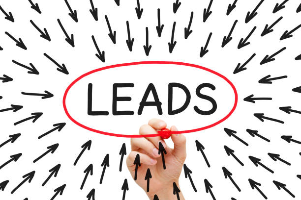 lead generation arrows concept - lead stock photos and pictures