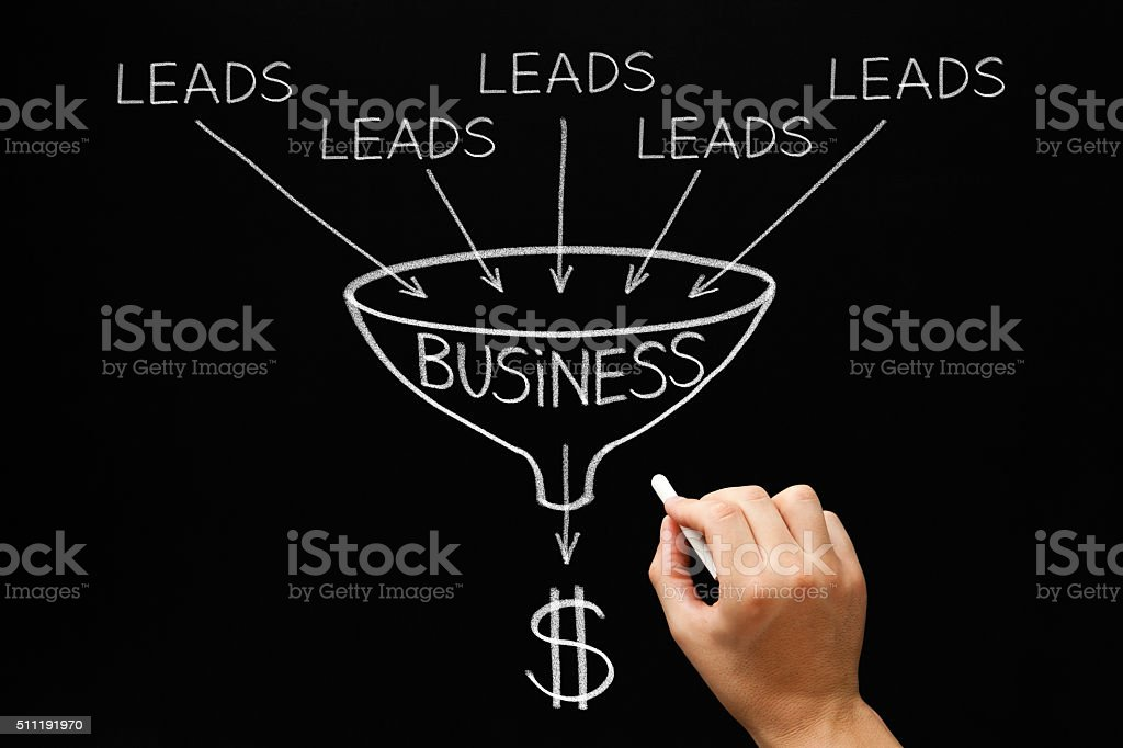 Lead Generation Business Funnel Concept stock photo