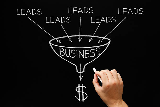 lead generation business funnel concept - sales funnel stock photos and pictures