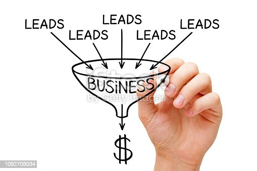 istock Lead Generation Business Sales Funnel Concept 1092705034
