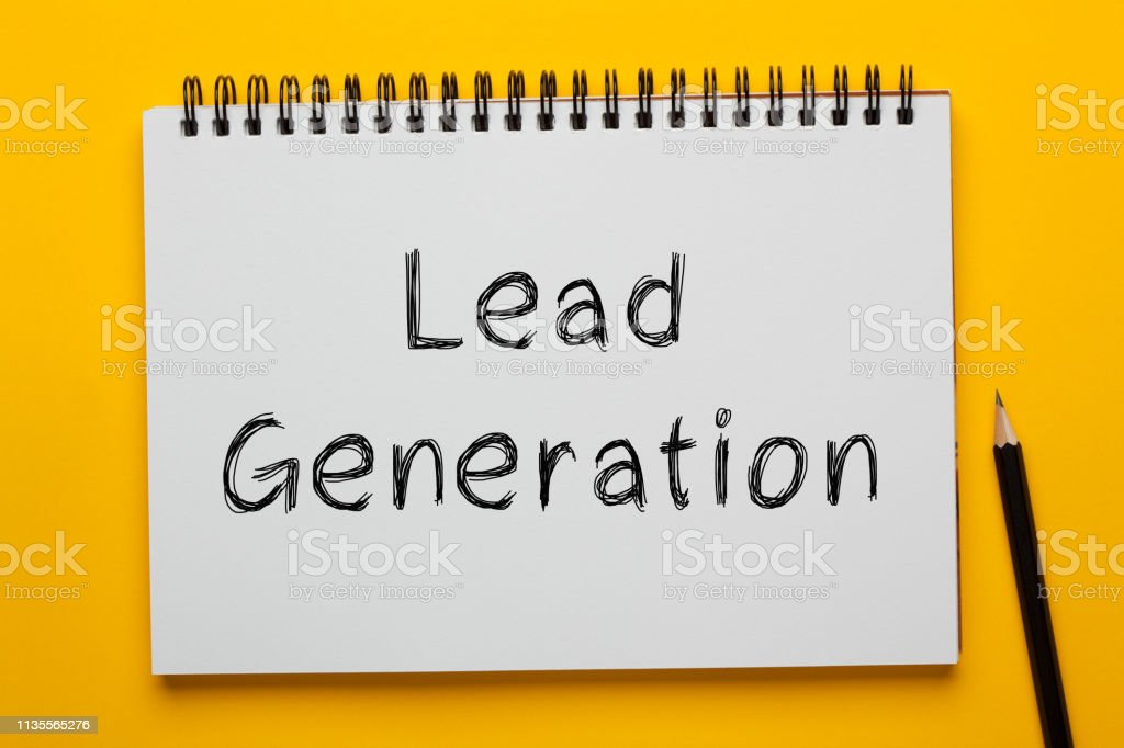 Lead Generation Concept Lead Generation written on notepad with pencil on yellow background. Business concept. Analyzing Stock Photo
