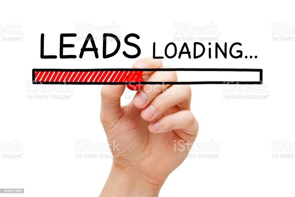Lead Generation Loading Bar Concept stock photo
