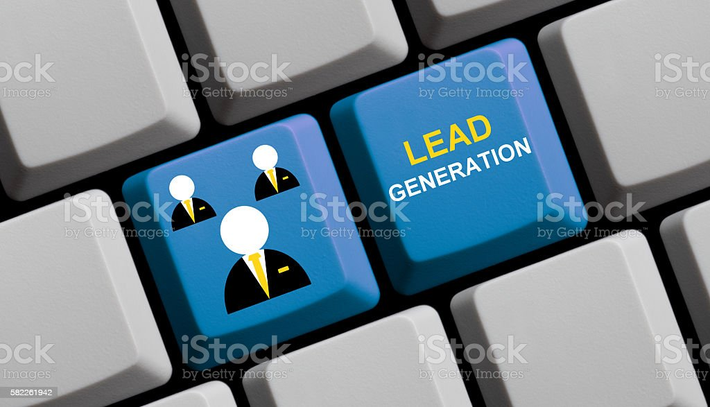 Lead Generation online stock photo