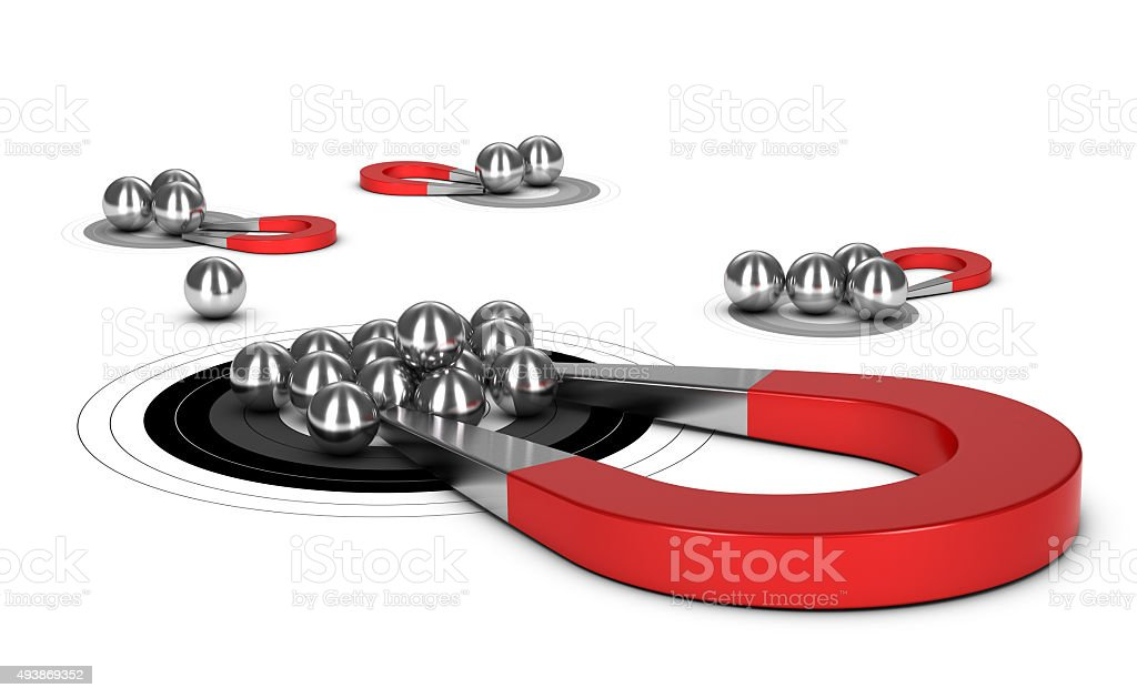 Lead Magnet Concept stock photo