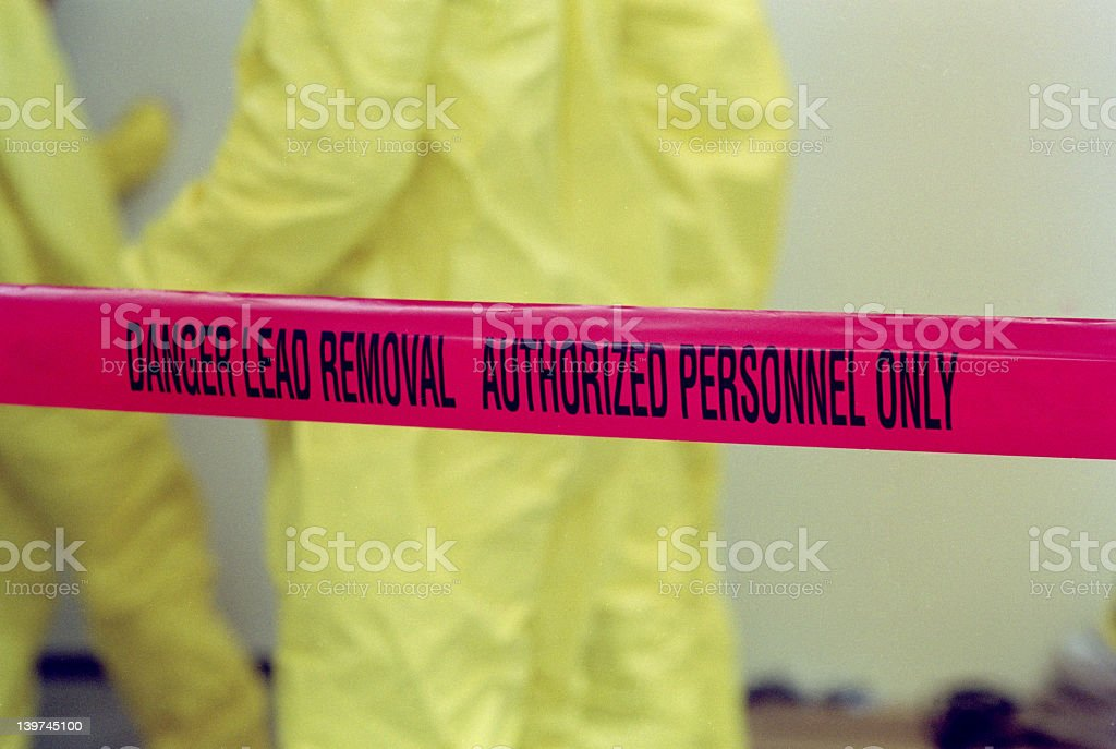 Lead Paint Removal Tape stock photo