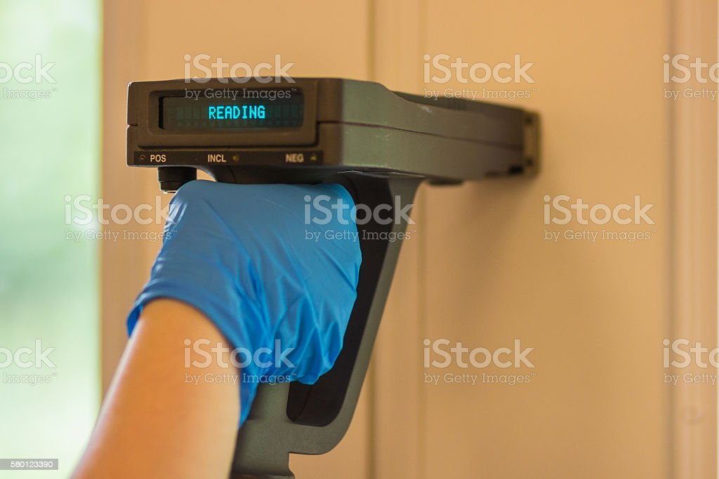 Lead Paint Testing by XRF stock photo