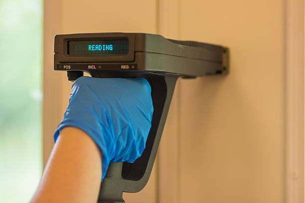 lead paint testing by xrf - lead stock photos and pictures