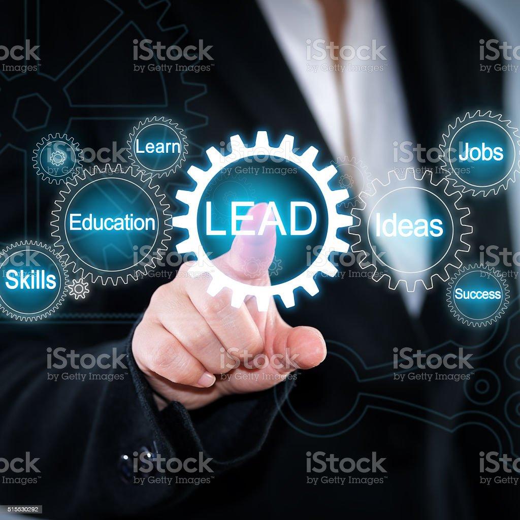 lead stock photo
