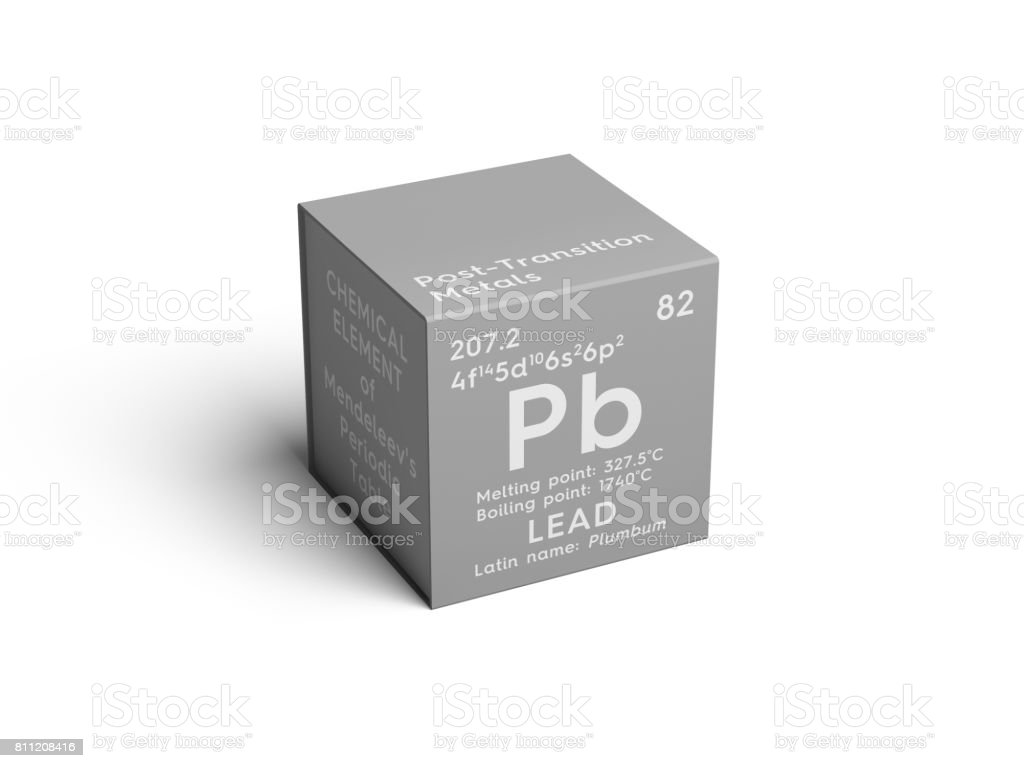Lead Plumbum Posttransition Metals Chemical Element Of Mendeleevs