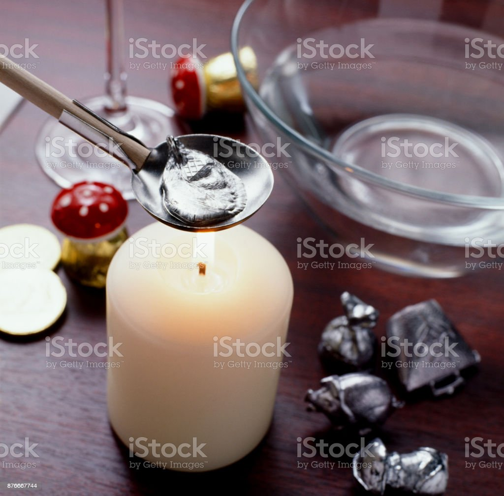 lead pouring stock photo
