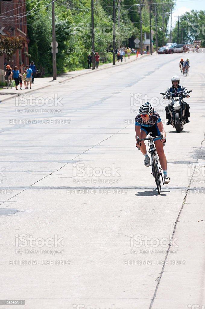 Lead Rider at Stillwater Criterium stock photo