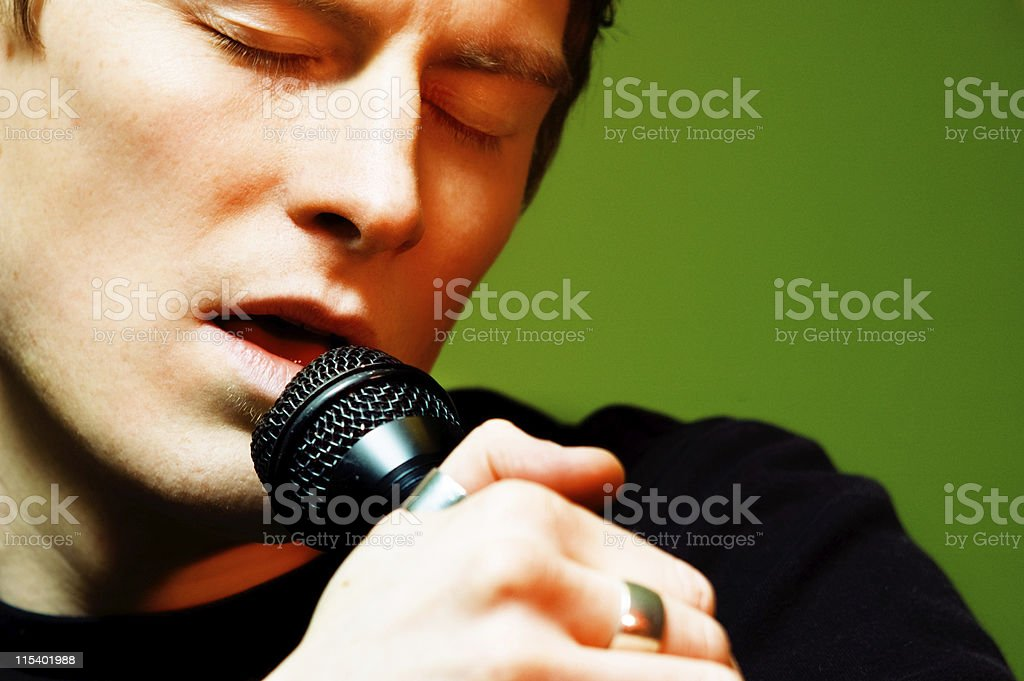 lead singer royalty-free stock photo