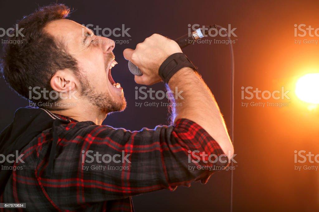 Lead singer stock photo