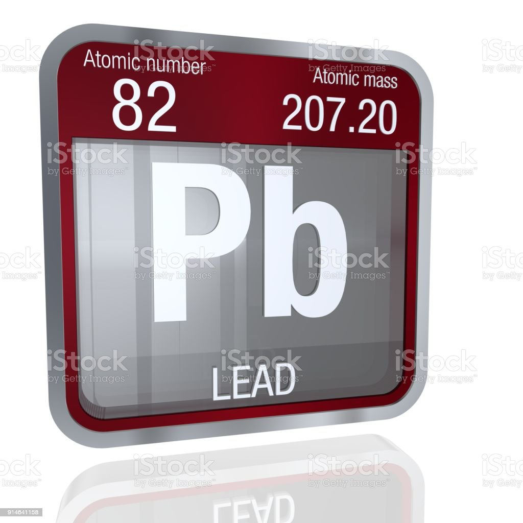 Lead symbol in square shape with metallic border and transparent lead symbol in square shape with metallic border and transparent background with reflection on the floor urtaz Gallery
