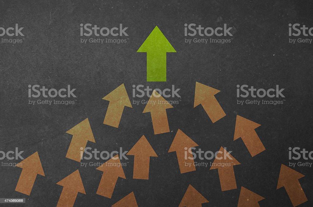 Lead the members! stock photo