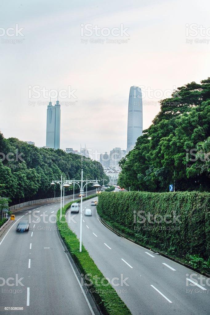 lead to a big city photo libre de droits