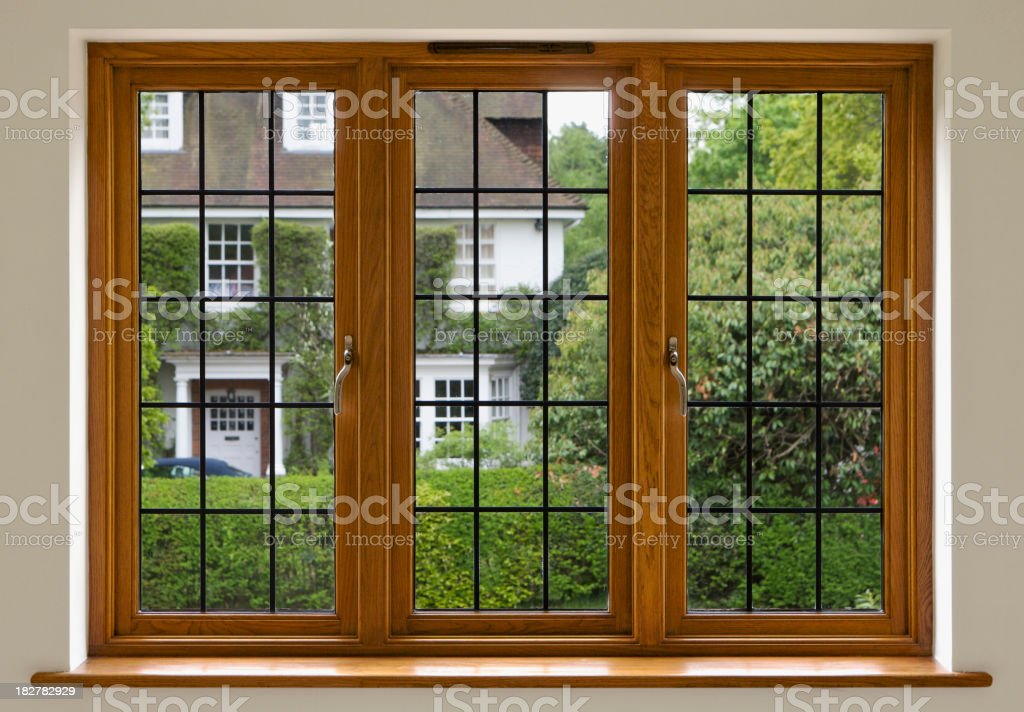 Leaded Glass Window royalty-free stock photo