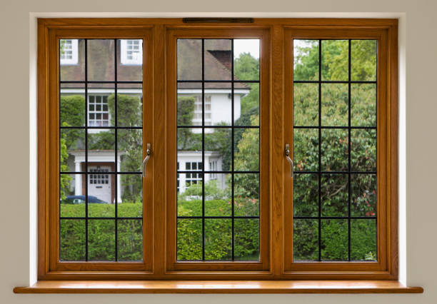 Leaded Glass Window stock photo