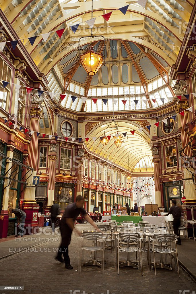 Leadenhall Market in Central London royalty-free stock photo
